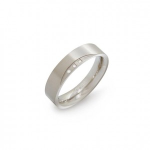 BOCCIA TITANIUM RING MET 0.015CT BRILJANT MT54 - 73498