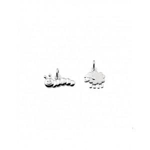 ZILVEREN HANGER ASSORTI SCHAAP/RUPS - 68118