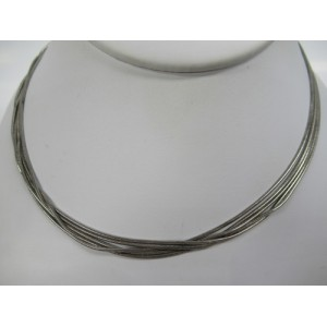 collier zilver 5x 42 cm - 63520