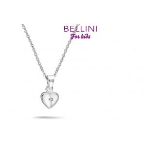 BELLINI ZILVEREN HANGER INCL. COLLIER HART MET ZIRKONIA 38CM - 71737