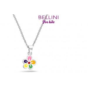 BELLINI ZILVEREN HANGER INCL. COLLIER BLOEM MULTICOLOR 38CM - 76470