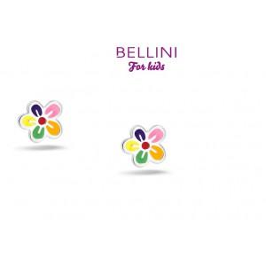 BELLINI ZILVEREN OORSTEKERS, BLOEM MULTI-COLOUR - 76419