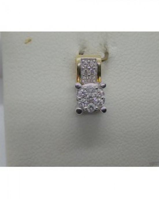 ECLAT GOUDEN HANGER BI-COLOR MET 0.17CRT H-SI BRILANT - 60888