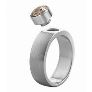 """MELANO RING """"STURDY/STAAL"""" SERIE - 908008"""